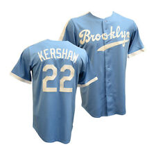 Clayton Kershaw Brooklyn Dodgers Majestic Cooperstown Cool Base Jersey XL