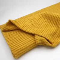 Luxe Angora Cable Soft Jersey - Ochre - Fabric Stretch Knit Dressmaking
