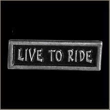 NEW SUPERB QUALITY ENAMEL LIVE TO RIDE MOTORCYCLE BIKER PIN BADGE