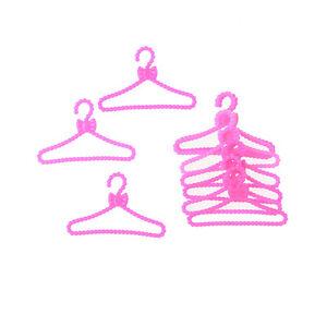 20X Hangers Accessories For s Dolls Clothes Dress Skirt Shoes Pretend G 3C
