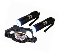 Rubber Camping & Hiking Headlamps with 2 Batteries