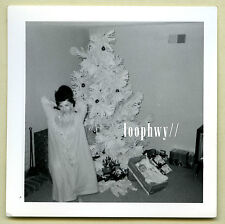 1960s Hair Woman in Nightgown? by Fake Christmas Tree, Baby Doll - Vtg Old PHOTO