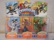 Skylanders Giants - Sparkle Sonic Boom, Sprocket, Stump Smash - NEU & OVP