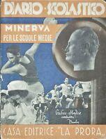 Diario Scolastico - Minerva per scuole medie - 1940 La Prora
