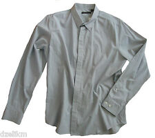 NWT $215 THEORY LONG SLEEVE STRIPED BUTTON-DOWN COTTON SHIRT Size XL