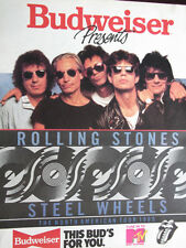 Budweiser Presents Rolling Stones Steel Wheels North American Tour 1989 Ad