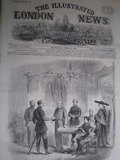 Sicilia Italia Garibaldi cumple con Nápoles enviado principales Bosco en Palermo 1860 antigua de impresión