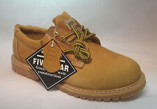 """Brand New Mens Leather Oxford Shoes 4"""" Tan Slip Oil Resistant Oxford Work Boots"""