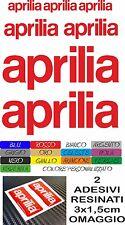 KIT 9 ADESIVI APRILIA RACING VARI COLORI MOTO STICKERS COD17 + 2 LOGHI RESINATI
