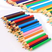 32 PACK OF CHILDRENS KIDS HALF SIZE SMALL COLOURING COLOUR PENCILS ART