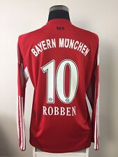 ROBBEN #10 Bayern Munich Long Sleeve Home Football Shirt Jersey 2010/11 (L)