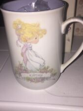 Precious Moments Kathy Cup Mug 1989 Admired One-True and Pure w/Box Unused