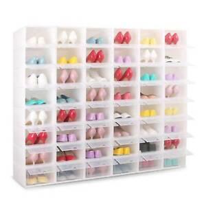 Shoe Box Storage Foldable Case Stackable Organizer Transparent Drawer Plastic