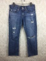 AG Adriano Goldschmied The Tomboy Relaxed Straight Jeans Sz 26 Distressed