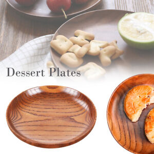 Tableware Dessert Plates Household Smooth Wooden Bread dish Tray Kitchen Plate