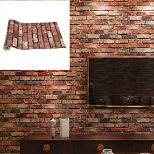10M 3D Wall Paper Brick Stone Rustic Effect Self-adhesive Wall Sticker Home Deco