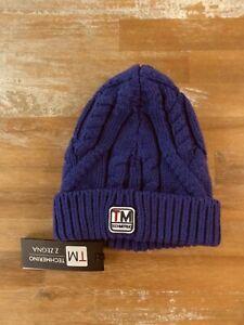 Z ZEGNA purple chunky Techmerino wool beanie hat - Size I / Small / Medium - NWT
