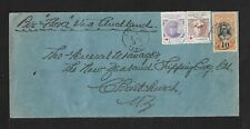 FRENCH POLYNESIA TO NEW ZEALAND COVER 1916