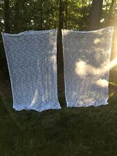 """PAIR Simply Shabby Chic Rachel Ashwell Sheer Curtain Panels White Embroidery 84"""""""