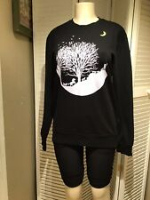 Crewneck Alvinclo Sweater Black Color Size XL Korean