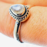 Rainbow Moonstone 925 Sterling Silver Ring Size 8.25 Ana Co Jewelry R25691F