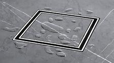 New Square Floor Grate Waste - Tile Insert - Brass/chrome 100 mm Sleek look