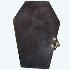 Handmade Leather Coffin Journal With Lock Grief n Mourning Memento