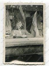 Foto, Wehrmacht, Soldat im Quartier, Einsatz in Kozienice, Polen, p (W)1390