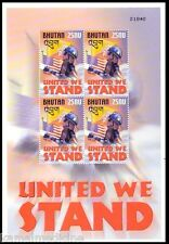 Bhutan MNH SS, United We Stand, Flags (S27)