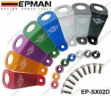 EPMAN Carreras Aluminio Largo Radiador permanecer Soporte 8 Color Fit de Honda Civic 92-95