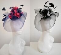 Bespoke Feather Hair Fascinator Hat Veil Headband Clip Wedding Ascot Races