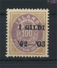 Islande 34A neuf avec gomme originale 1902 émision de surcharge (9077392