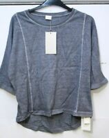 Poetry Panelled Jersey Top Blue Steel Size UK 8 VR176 018