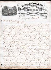 1874 Indianapolis IN - Boyle Cox Co History Black Walnut Ash Lumber Letter Head