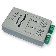 KMTronic USB 2 Relay Controller, RS232 Serieel gestuurd, BOX