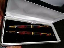 VINTAGE Rotring  Marble Lapis Ballpoint Pen & Pencil Set  In Box
