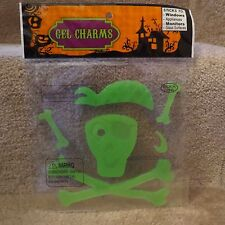 Halloween Gel Charms - Green Pirate Skeleton - 6 pcs
