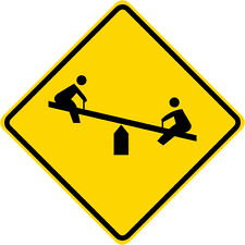 3M Reflective CHILDREN AT PLAY See Saw Symbol Park Sign Municipal Grade 30 x 30