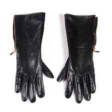 "30cm(11.8"") Men's Real Leather long side zippper  gloves Customizable gloves"