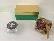 Vintage New Gift Box Christmas Potpourri With Rawcliffe Pewter Holder 1991