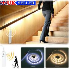 Tira de luz LED Inalámbrico PIR Sensor De Movimiento Lámpara De Escalera Armario Alimentado por Batería Nueva