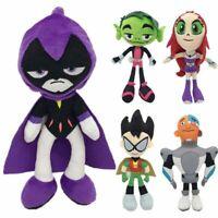 Teen Titans Go Plush Robin Raven Beast Boy Cyborg Starfire Stuffed Doll Toys Kid