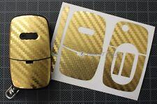 CARBON Gold Folie Dekor Schlüssel Audi A A3 S3 8L A4 S4 B5 B6 A2 A6 C5 TT 8N
