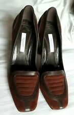 BNWOB Pollini Brown Leather and Suede Court Shoes UK 3  EUR  36