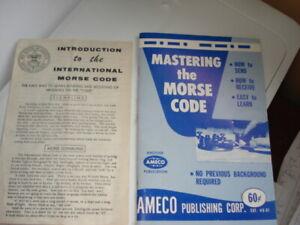2-Boy Scouts International Morse Code Signaling & Ameco Mastering the Morse Code
