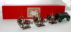 LUCOTTE Toy Metal BOXED HORSE-DRAWN ARTILLERY CAISSON + DIORAMA. Imperial Bee LC