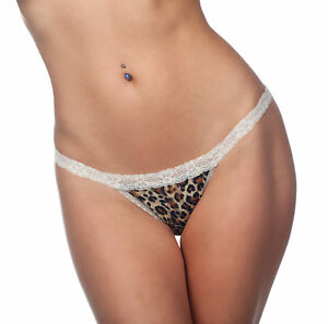 Ladies Low rise Printed Lace G-String G68 - One Size