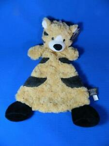 Demdaco Tan Brown Tiger Security Blanket Plush Lovey ~ NEW