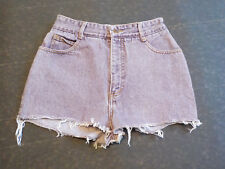 Bongo Shorts Vintage Sz Junior 11 Cotton Frayed Distress Purple Mini