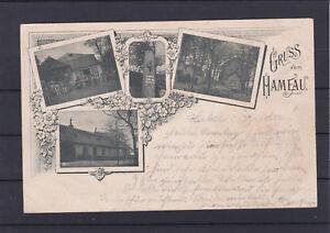 Alte Ansichtskarte Gruß vom Hameau gelaufen 1897